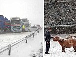 Snow alerts have been issued across Scotland and Northern England