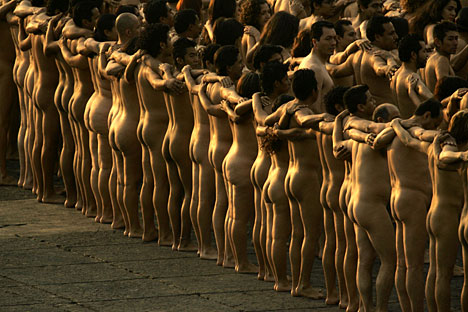 strip nude photoshoot