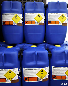 germany terror suspects blue barrels