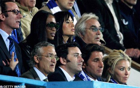 Naomi Campbell watches QPR