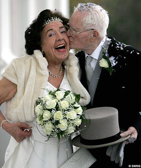 peggy clark james mason oldest newlyweds