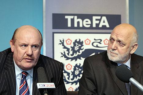 Brian Barwick and Geoff Thompson