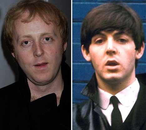 James McCartney and Paul McCartney