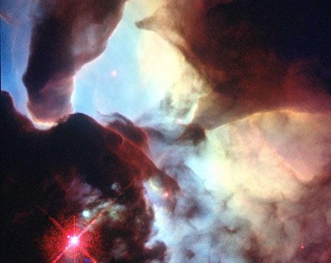 Lagoon Nebula matter in the universe