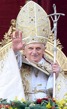 Pope Benedict XVI during his Urbi et Orbi