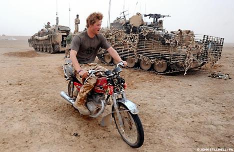 Harry riding bike