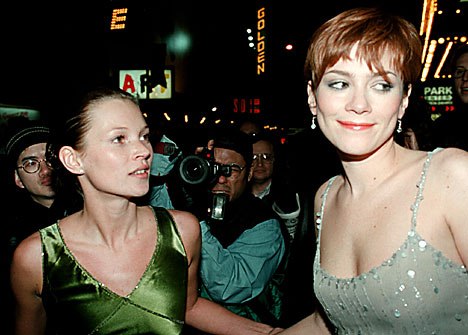 Kate Moss and Anna Friel