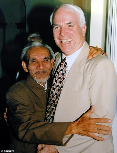 John McCain and Mai Van On