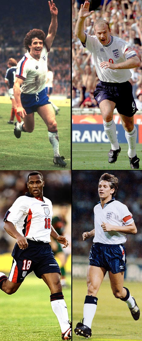 england strikers