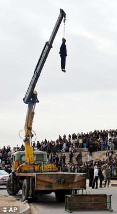 Hanged: Iranian authorities executed 29 criminals in one day