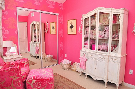 Over-the-top: The nursery in all its pink glory