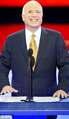 John McCain addresses Republican convention