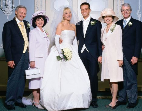 The Nobles and the Majors on Emma and James's wedding day