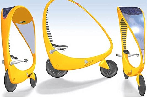 The Cycle Sol can be pedalled like an ordinary bicycle, or electrically powered with the flick of a switch