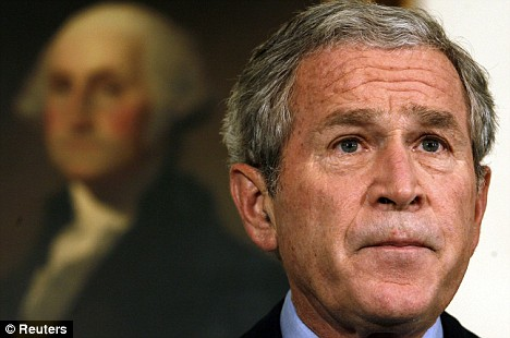 U.S. President George W. Bush speaks about the economic rescue plan at the White House on Tuesday
