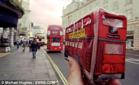 souvenir pencil case London bus