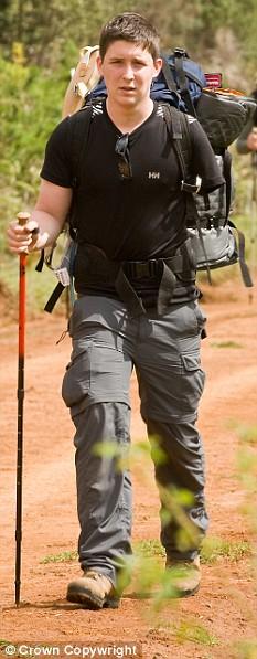Sapper Sam Richardson begins his personal quest to climb Mt Kenya.