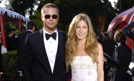 Previous love; Jennifer Aniston and Brad Pitt were Hollywood's golden couple