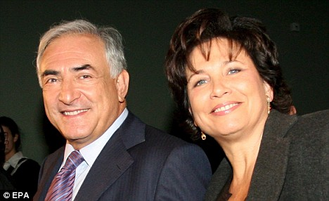 ''Still in love': Anne Sinclair with her husband Strauss-Kahn
