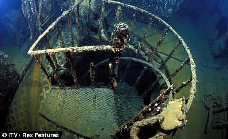 staircase can be clearly seen on the Britannic