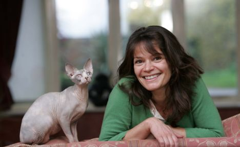 Hello there: Jane Fryer gets to know one of the famous sphynx cats
