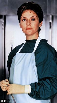 ACTRESS AMANDA BURTON IN BBC 1 TELEVISION PROGRAMME SILENT WITNESS