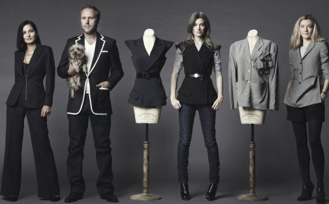 Style insiders: From left, Yasmin Mills, Simon Mills, Sarah Harris and Anita Borzyszkowska all use Apsley's tailors