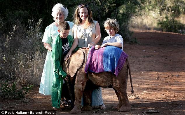 Daphne Sheldrick and family