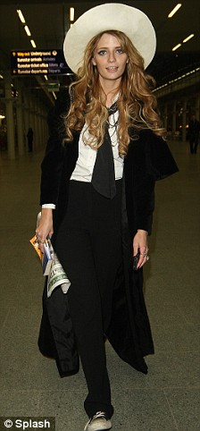 Mischa Barton is seen here arriving at Kings Cross St Pancras train station from Paris