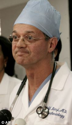 Dr. Jalil Riazi at a news conference after the octuplets were born on Monday