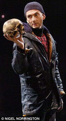David Tennant pictured as Hamlet in the RSC production