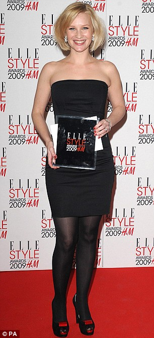 Joanna Page with the award for Best TV Series, won by 'Gavin and Stacey'