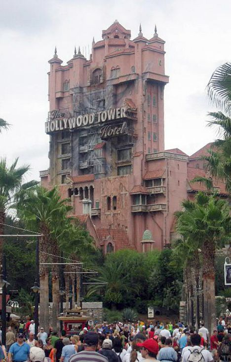 The Tower of Terror in Disney World, Orlando, Florida. British teenager Leanne Deacon is suing Disney World after she became brain-damaged after going on the ride