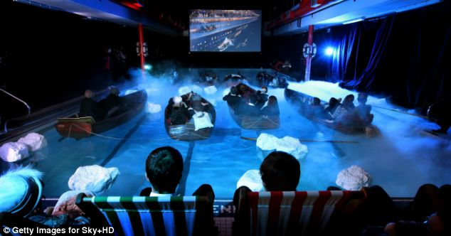 Organisers even filled the swimming pool with 'icebergs'