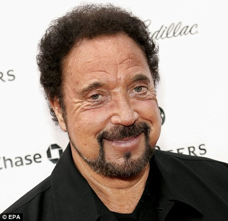 Before:Tom Jones pictured in 2005 - with brown hair
