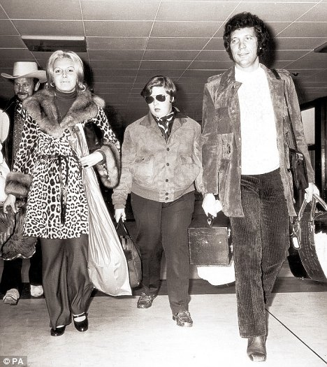 Natural look: Sir Tom Jones with his wife , Linda, and son, Mark in 1970