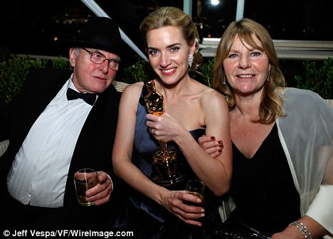 Kate Winslet with her father Roger Winslet and mother Sally Bridges-Winslet