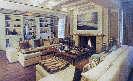 The luxury sitting room of the chalet, which has suffered thus far from a lack of interest