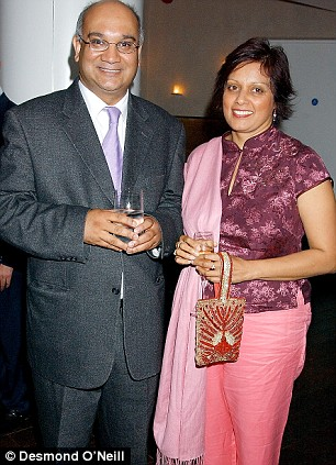 Labour MP Keith Vaz and his wife Maria Fernandes