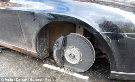 Bentley GT after thieves struck