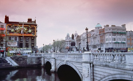 O'Connell Bridge over the Liffey river, Dublin