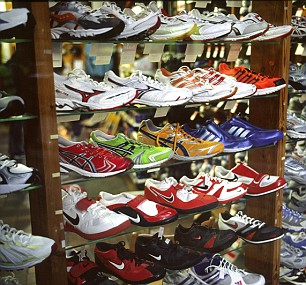 Modern running shoes on sale