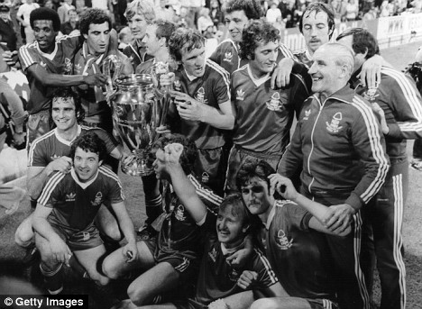 Nottingham Forest salute their 1979 European Cup victory