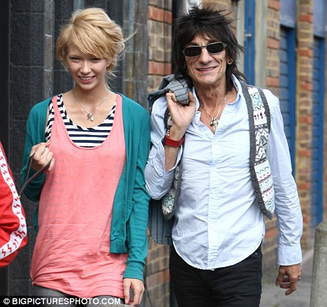 Ronnie Wood Ekaterina Ivanova London 26 April 2009