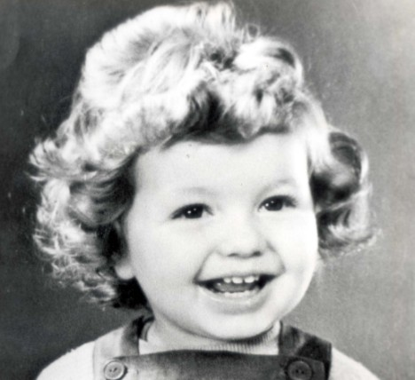 Lenska, pictured as a toddler, left Poland to pursue fame and fortune