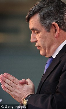 Gordon Brown should be worried with GDP slumping by more than 4.6 per cent, says national economic think-tank