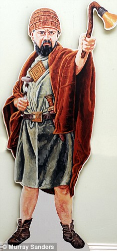 An artist's impression of the 'King of Stonehange' who was buried at Bush Barrow 4,000 years ago