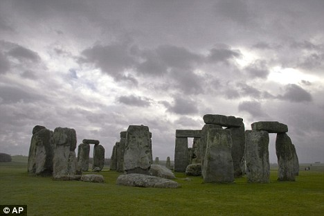 The hoard of jewellery was recovered from Salisbury Plain near Stonehenge (pictured)