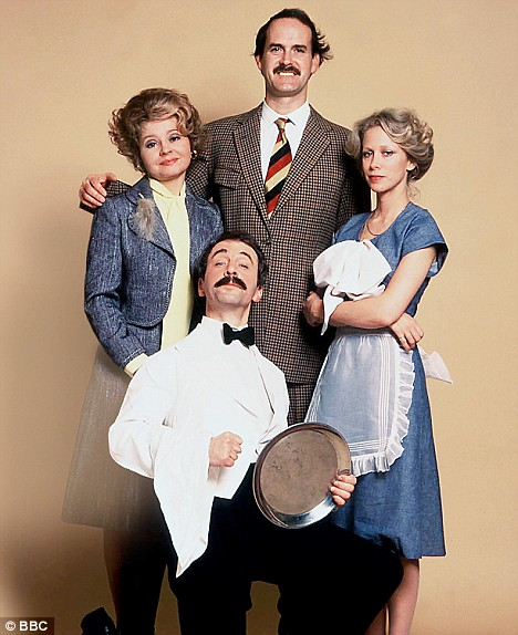 They don't make 'em like they used to... the cast of Fawlty Towers