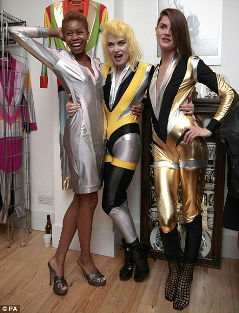 The truth is out there: Designer Pam Hogg and models Anouck (R) and Tallulah (L)